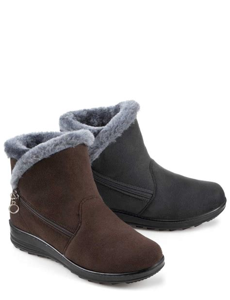 cushion walk faux suede zip boot slipper ebay