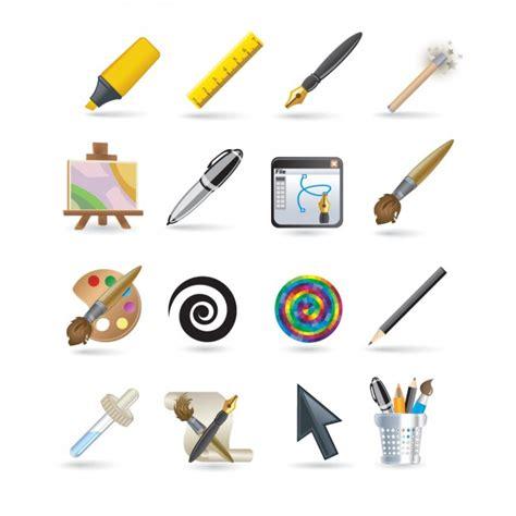 design ikonen designer ikonen set der kostenlosen vektor