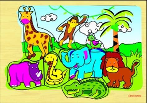 Puzzle Aku Dan Ibuku Gajah puzzle gambar stiker puzzle safari hewan liar