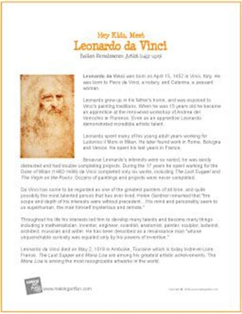 Leonardo Da Vinci Biography For Students | leonardo da vinci biography and for kids on pinterest