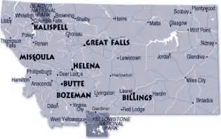 Montana Map With Cities by Montana Map And Montana Satellite Image