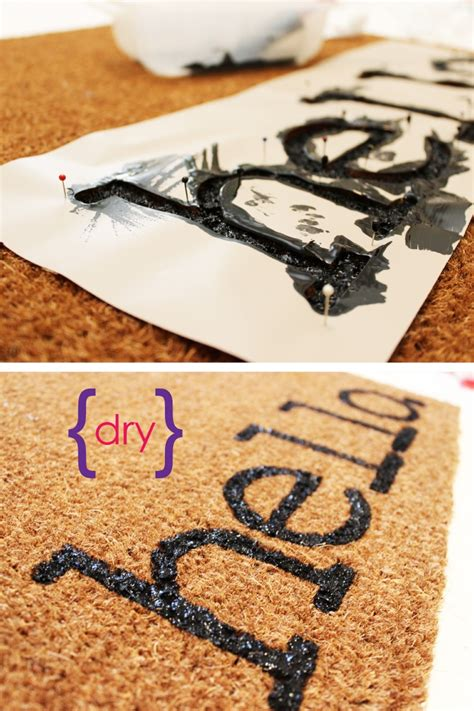 diy mat easy project for summer diy personalized door mats