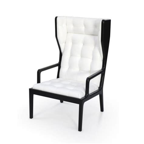 wingback armchairs uk james uk black and white leather wingback armchair from fusion living