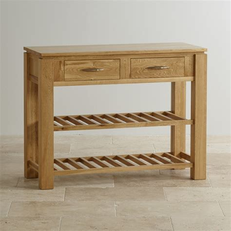 Oak Furniture Land Console Table Galway Solid Oak Storage Console Table