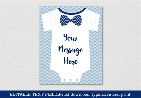 bow tie onesie template luxury onesie baby shower invitations template