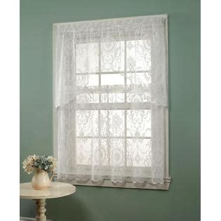 kmart lace curtains essential home coraline lace window tier curtain home
