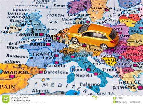 european memories travels and adventures through 15 countries travels and adventures of ndeye labadens books europe map and car stock photo image 67123232
