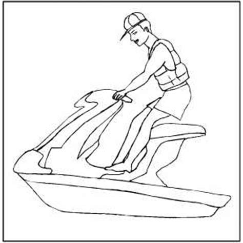 coloring pages of jet ski jet skiing coloring sheet