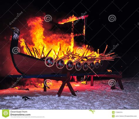 fire boat cartoon burning vikng fire ship editorial stock image image