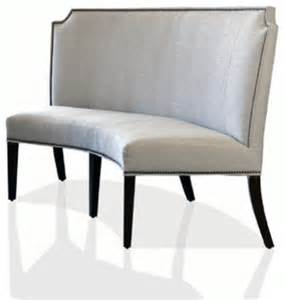 curved banquette transitional dining benches atlanta