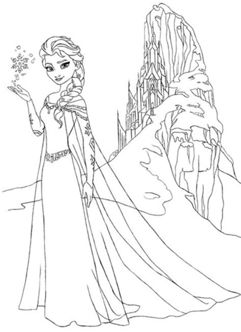 free coloring pages of frozen elsa drawing