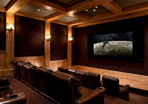 home theater design utah melrose park theater for a rustic home theater with a