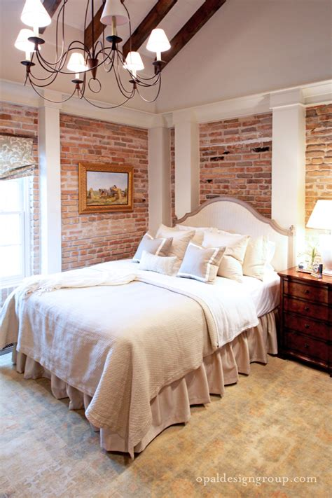 exposed brick bedroom exposed brick decor the cottage market