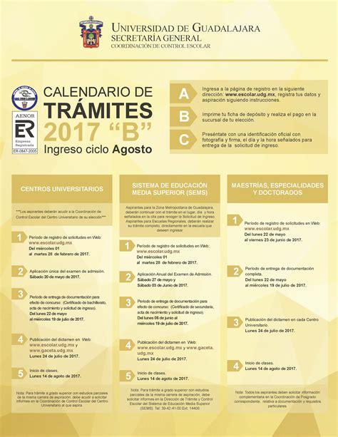 2017b Calendar Calendario De Tr 225 Mites 2017b Coordinaci 243 N De Escolar