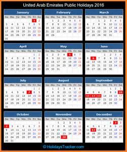 United Arab Emirates Uae Calendã 2018 United Arab Emirates Holidays 2016 Holidays Tracker