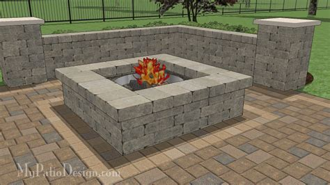 square pits designs pit and outdoor fireplace designs mypatiodesign