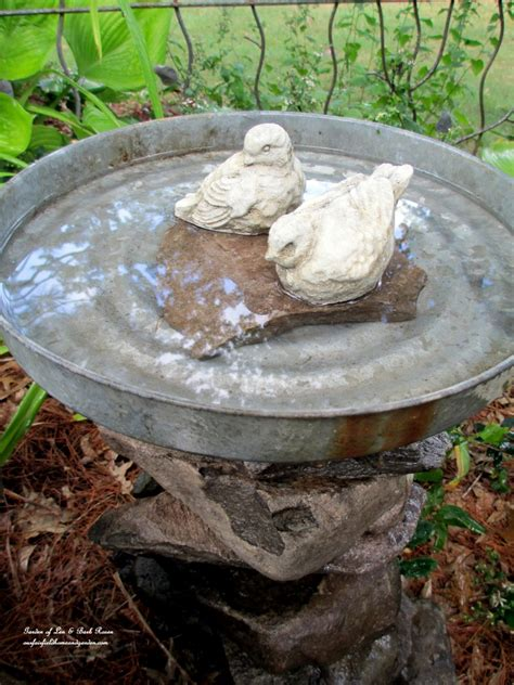 diy project stacked stone bird baths our fairfield