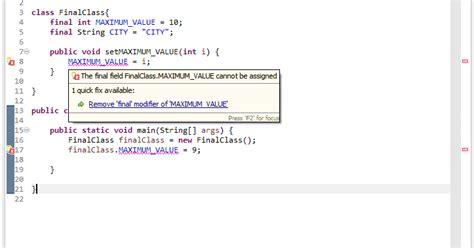 java tutorial final keyword final in java tech tutorials
