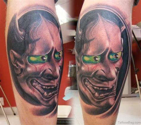 hannya mask and skull tattoo 40 impressive mask tattoos for leg