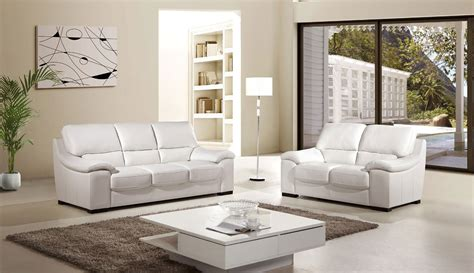 luxor 2 italian top grain white leather sofa set