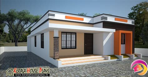 kerala home design single floor low cost low cost house in kerala 668 sqft kerala house plans