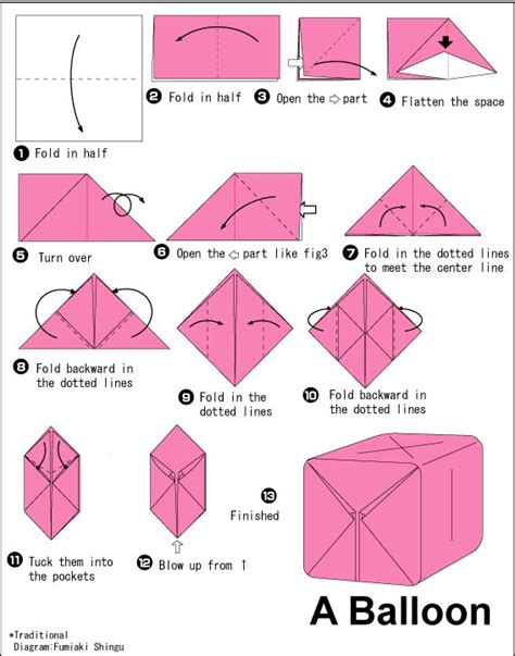Origami Pdf Free - 25 best ideas about origami balloon on