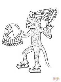 aztec coloring pages aztec jaguar drawings