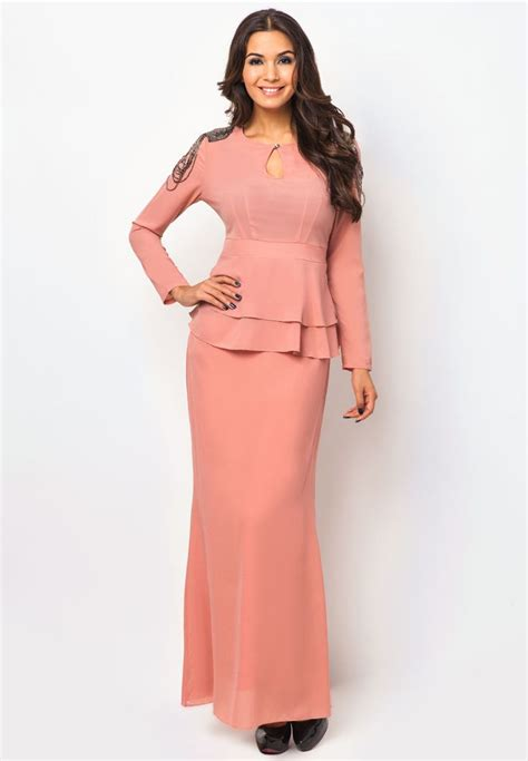 Dress Claudi Gaun black nur qamarina peplum baju kurung by luxe by ethnic chic baju kurung moden