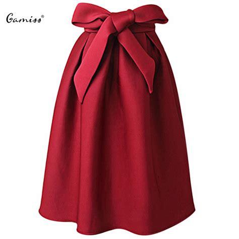 Pleated Midi Skirt Rok Murah Promo gamiss vintage skirt high waist pleated maxi midi skirt a line big bow