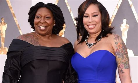 whoopi tattoo whoopi goldberg reveals shoulder in black frock
