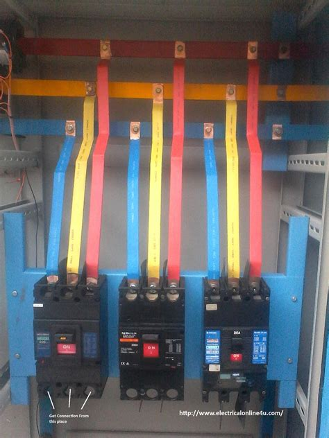 circuit breaker installation for three phase supply 3