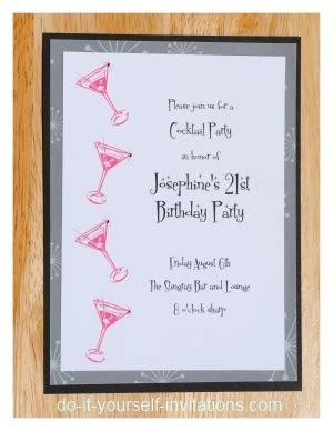 Print And Create 21st Birthday Invitations 21st Birthday Template