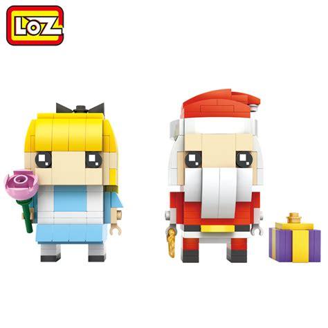 10 Fullot 2in1 Set New Putih loz santa claus and cinderella 2in1 mini blocks brick heads figure 6 281pcs