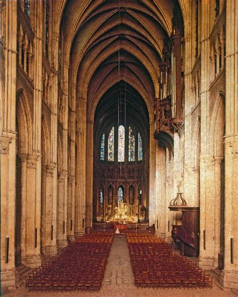 Cathedral Interior by Chartres Cathedral Interior Images