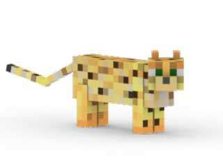 Minecraft Papercraft Ocelot - ssm ocelot kit