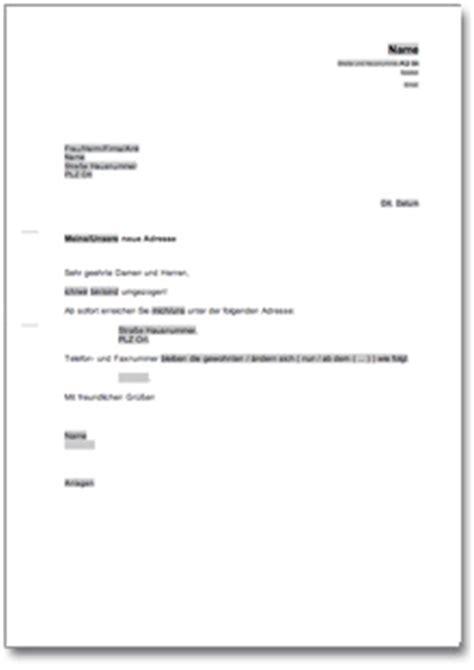 Anschreiben Firma Adrebe Mitteilung 252 Ber 196 Nderung Der Bisherigen Anschrift At