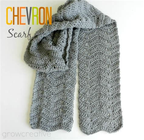 grow creative crochet chevron scarf pattern