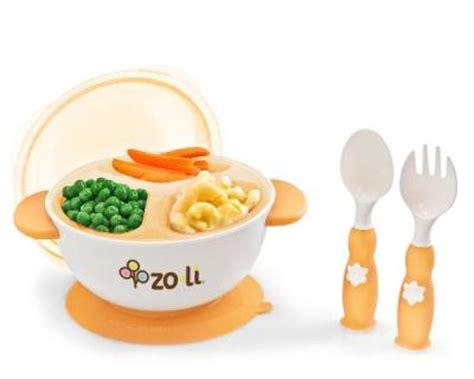 Mangkok Segitiga Plastik jual piring mangkok sendok makan bayi aman rekomen