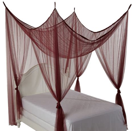 canopy beds with curtains simple four poster bed canopy drapes with burgundy color 4