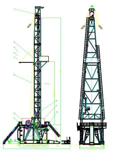 1000hp zj40db ac vfd modular drilling rig botta rigs