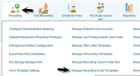 recruiting email templates sap successfactors guide