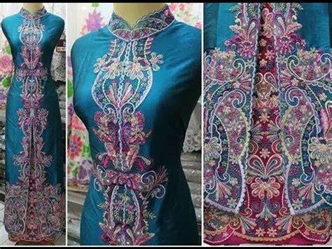 Sulaman Bordir Khas Minang by Model Baju Kurung Padang Minang Embroidery Bordir Dan