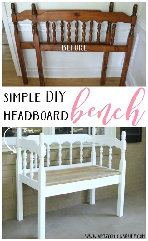 diy headboard bench 20 favorite diy projects get your diy on artsy chicks