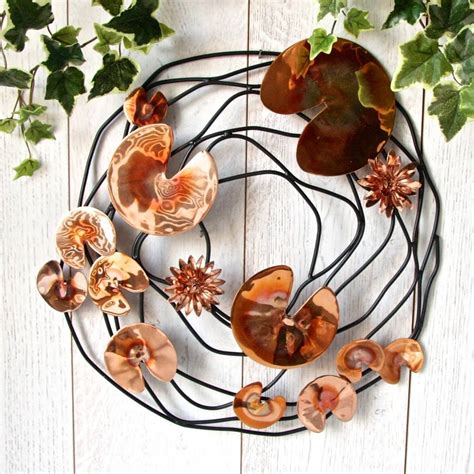 Copper Garden Decor Copper Lilypond Garden Wall Sculpture By Garden Trading Notonthehighstreet
