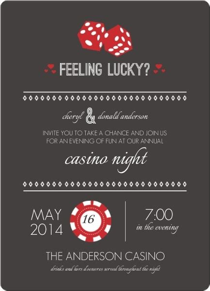 free templates for casino invitations red and gray feeling lucky dice poker night invitation