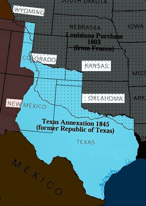 map of texas annexation unitedstateshistorylsa the lone republic