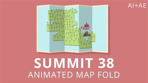 Summit 38 Animated Map Fold After Effects Youtube Map Animation After Effects Template