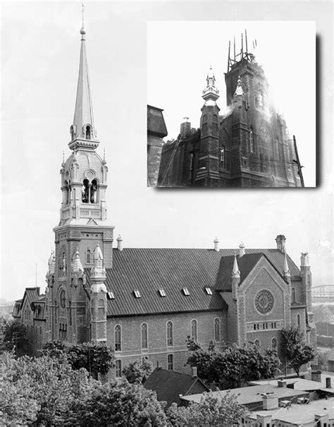 L'incendie de l'église Notre-Dame-de-Grâce de Hull.