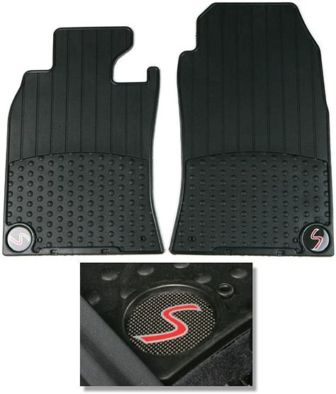 mini cooper s floor mats genuine part 82 55 0 306 793 front set of two black rubber