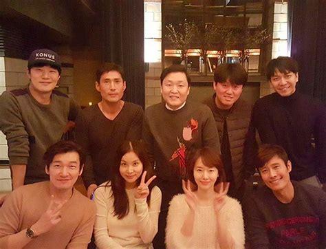 lee seung gi jung joon young lee jung hyun shares shot with lee seung gi psy lee